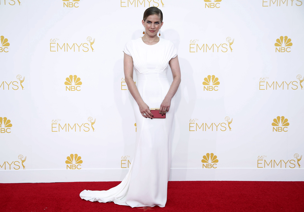 Anna Chlumsky arrives at the 66th Primetime Emmy Awards in Los Angeles